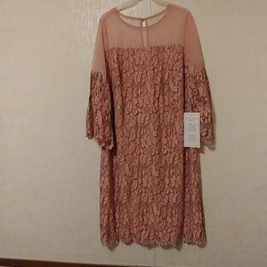 Roaman's mauve floral lace Special Occasion Dress